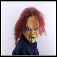 Free shipping Halloween Party Scary Ghost Mask Realistic latex seed Chucky mask Movie Cosplay Theme Mask Free Size in stock