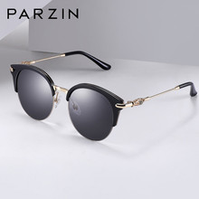 7f23a960af PARZIN Nylon Polarized Sunglasses For Women Vintage Cat Eye Female Sun  Glasses Ladies Shades Accessories With