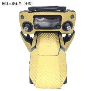 Image 5 - 防水カーボングラフィックステッカースキンラップドローンボディリモコンの電池アームタグdji mavicプロペースターデカール