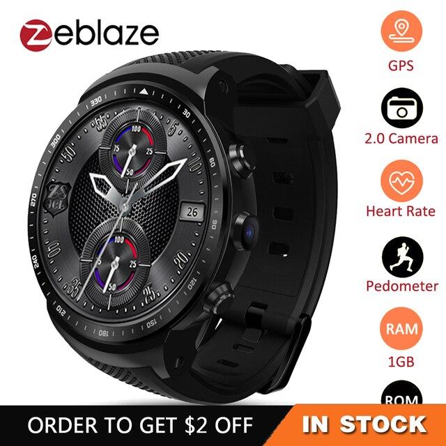 Zeblaze Thor PRO 3G GPS WIFI Smartwatch Android 5,1 MTK6580 Quad Core 1 GB 16 GB 2,0 MP Cámara reloj inteligente con Monitor de ritmo cardíaco
