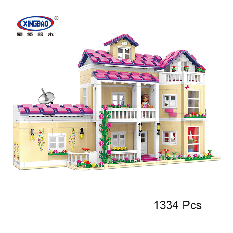 XINGBAO 12006 Kid Toys Girl Series The Happy Dormitory Set Building Blocks Bricks Educational Gifts Legoing Friends 1334 Pcs the girl with all the gifts
