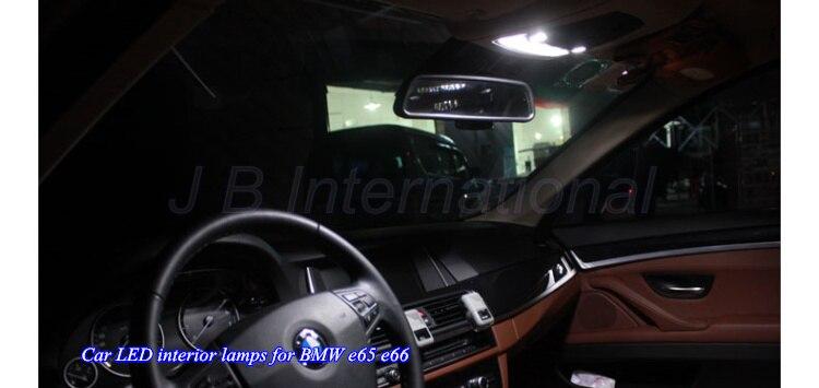 19 pcsxxenon белый интерьер автомобиля светодиодная лампа комплект для BMW E66 E65, автомобиль Географические карты + купол + перчатки коробка + багажн…