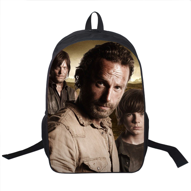 Tv Show The Walking Dead Backpack Young Men Women Daily Daryl Dixon Book Bag Rick School Bags For Teenagers Backpacks