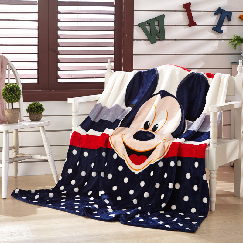 Disney Cartoon Pink Minnie Mickey Mouse Soft Flannel Blanket Throw for Girls Children on Bed Sofa Couch Kids Gift 150X200CM in Blankets from Home Garden