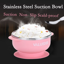 VALUEDER 300ml Baby Bowl with Suction Stianless Steel Non-spill Insulated and Sealed Baby Feeding Bowl Durable Baby Plate