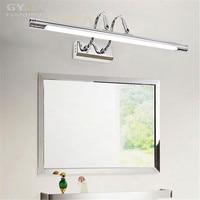 Nueva Llegada 6 w 10 w L48cm L62cm antique Silver Chrome apliques LED luz delantera de espejo mueble de baño tocador accesorio de la lámpara