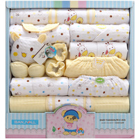 18Pcs/Lot 2019 Newborn Baby Girl Clothes Autumn Gift Box Set Thick Cotton O neck Character Baby Boy Clothes