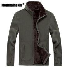 Mountainskin 6XL Nueva Hombres Softshell Fleece Casual Chaquetas Hombres Sudadera Abrigos Térmicos Caliente Engrosada Sólido Marca Ropa SA041