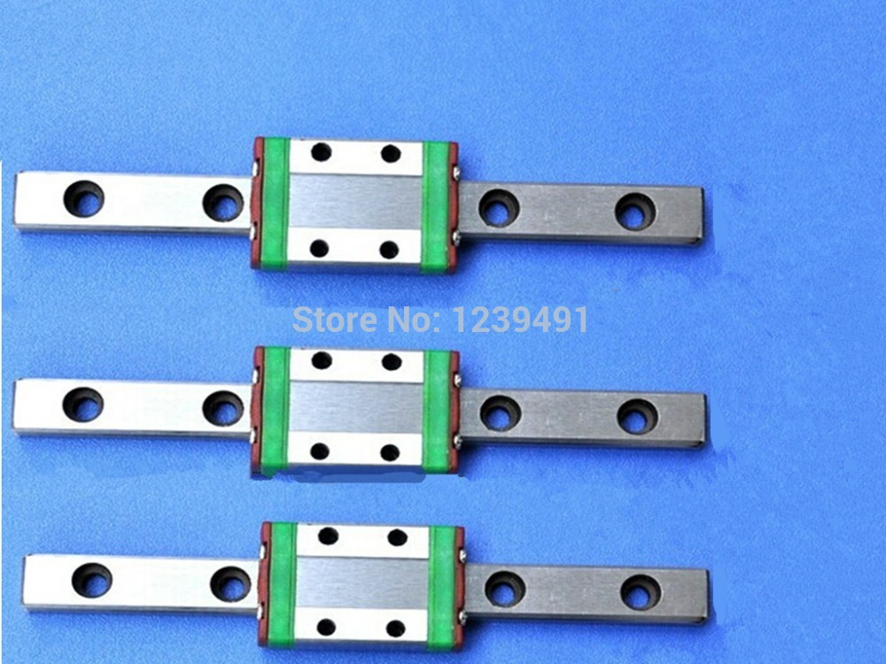 3pcs MGN15- L800mm linear rail + 3pcs MGN15H carriage 3pcs mgn15 400mm linear rail 3pcs mgn15h long type carriage