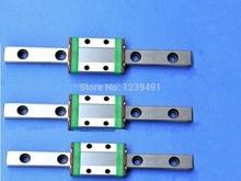 3pcs MGN15- L800mm linear rail + 3pcs MGN15H carriage mgn15 500mm length bearing steel linear guideway rail