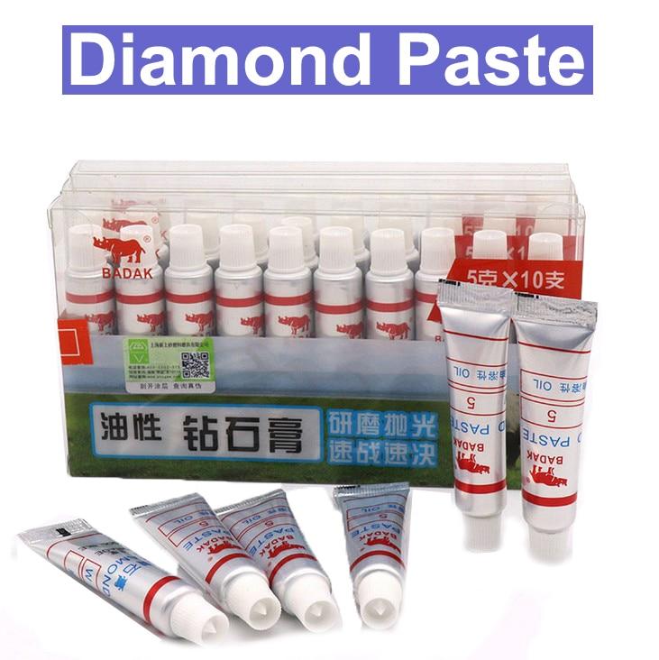 URANN 12pcs Diamond Polishing Lapping Paste Compound Syringes W0.5 ~40 Micron Glass Metal Grinding Polishing Abrasive Tools