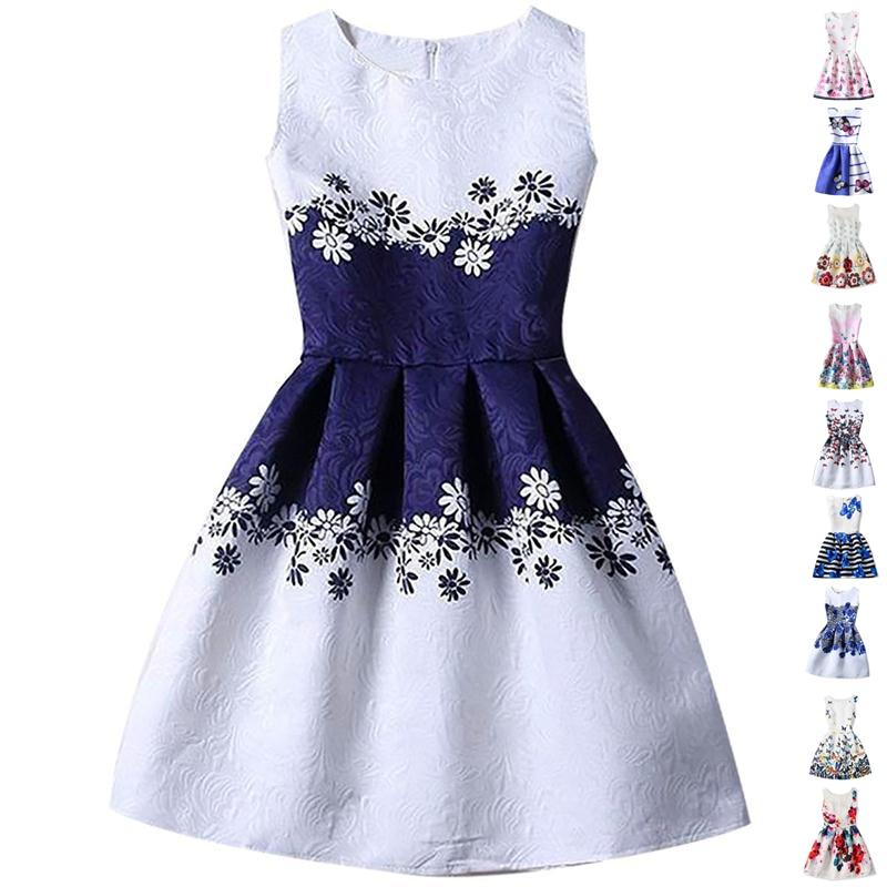 Teenage Girls Sundress For Kids Sleeveless Dresses Summer Vestido Infantil  4 10 12 14 Years Big Size ... 2a634804aa2c