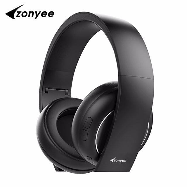 US $47 61 |Zonyee best flagship F5 Headphone wireless Bluetooth 4 1 With  Mic Soft Earmuffs Noise Cancelling Stereo Sound Bluetooth Headset-in
