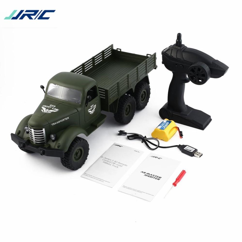 JJR/C Q60 1/16 2,4G 6WD RC Off-Road военный грузовик транспортер удаленного Управление автомобиля для Детский подарок Радиоуправляемый грузовик игрушки ...