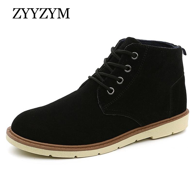 ZYYZYM Men Casual Shoes 2018 Lace-up High Solid color Simple Style Non-slip Fashion Trend Flats Rubber Shoe Hot Sale simple men s casual shoes with criss cross and color block design