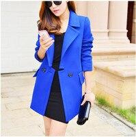 7 Color New Autumn Desigual Women Cotton Trench Coat Cardigans Winter Overcoat Long Designer Fashion Size