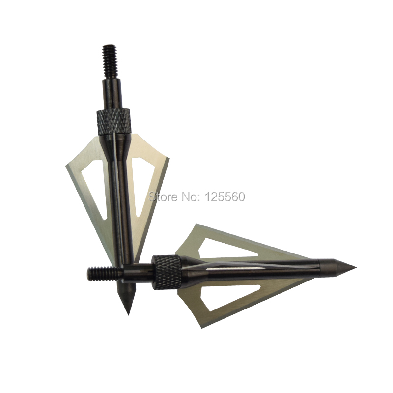 Free shipping 12 pieces black 100 grain aftershock hunt arrow head broadhead 3 blade New Beast archery bow image