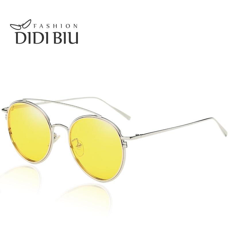 DIDI kerek polarizált sárga éjjellátó szemüveg női cukorka - Ruházati kiegészítők