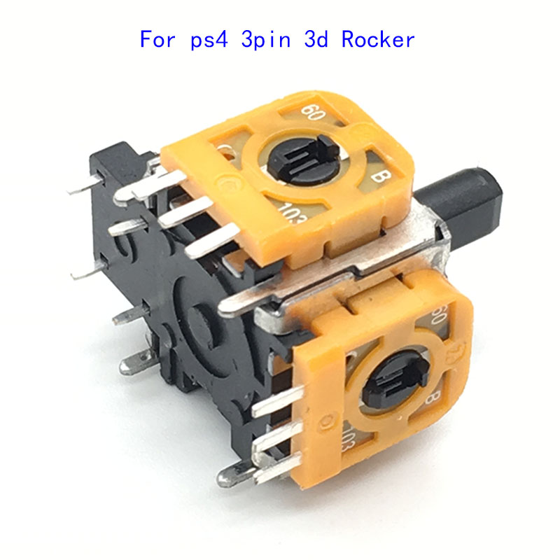 Pengganti Joystick Analog 3D Rocker asli Kuning untuk Sony PlayStation 4 PS4 DualShock 4 Wireless Controller Con