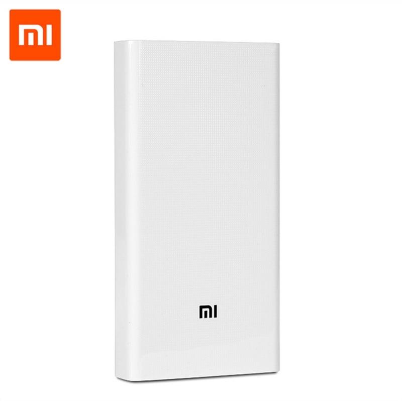 Original Xiaomi Energienbank 20000 mAh 2 Tragbares Ladegerät Dual USB Mi Externe Batteriebank 20000 für Handys und tabletten