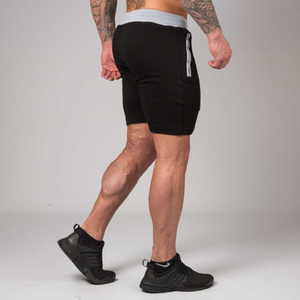 Image 2 - Men Gyms Fitness Bodybuilding Cotton Shorts Summer Style Casual Fashion Skinny Short Pants Man Jogger Workout Brand Sweatpants