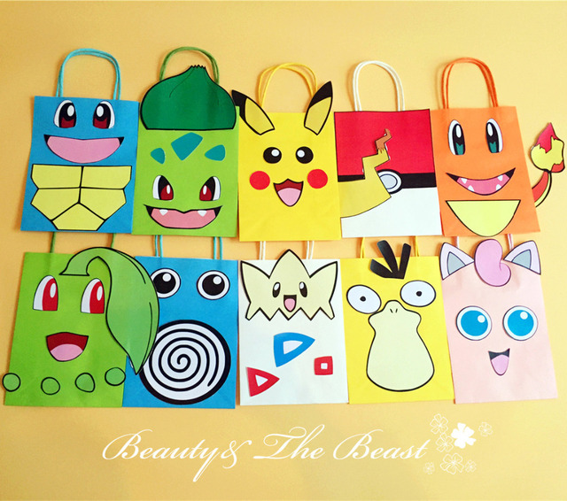 Pokemon Go Pikachu Favor Bag Gift Birthday Party Decorations Kids Supplies Baby Shower Candy