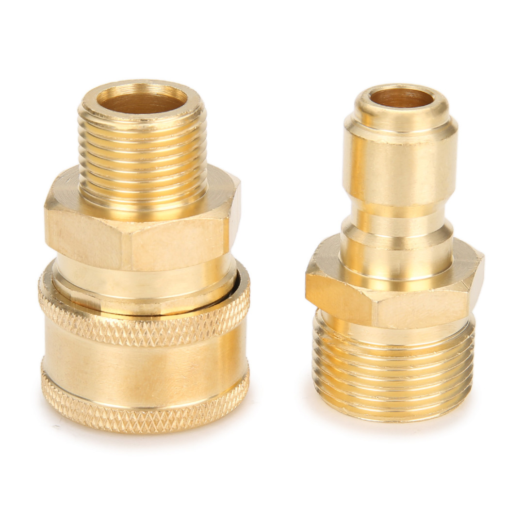1 Pair M22 Quick Release Adapter Connecter Coupling 14.8MM For Pressure Washer