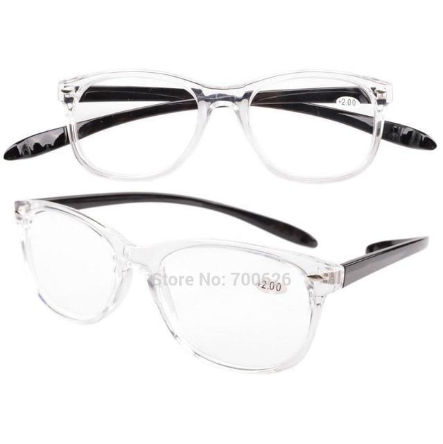 f4a753d57902 FR007 Transparent Frame Quality Long Arms Around the Neck Retro Reading  Glasses+1.0 1.5 1.75 2 2.25 2.5 2.75 3 3.5 4