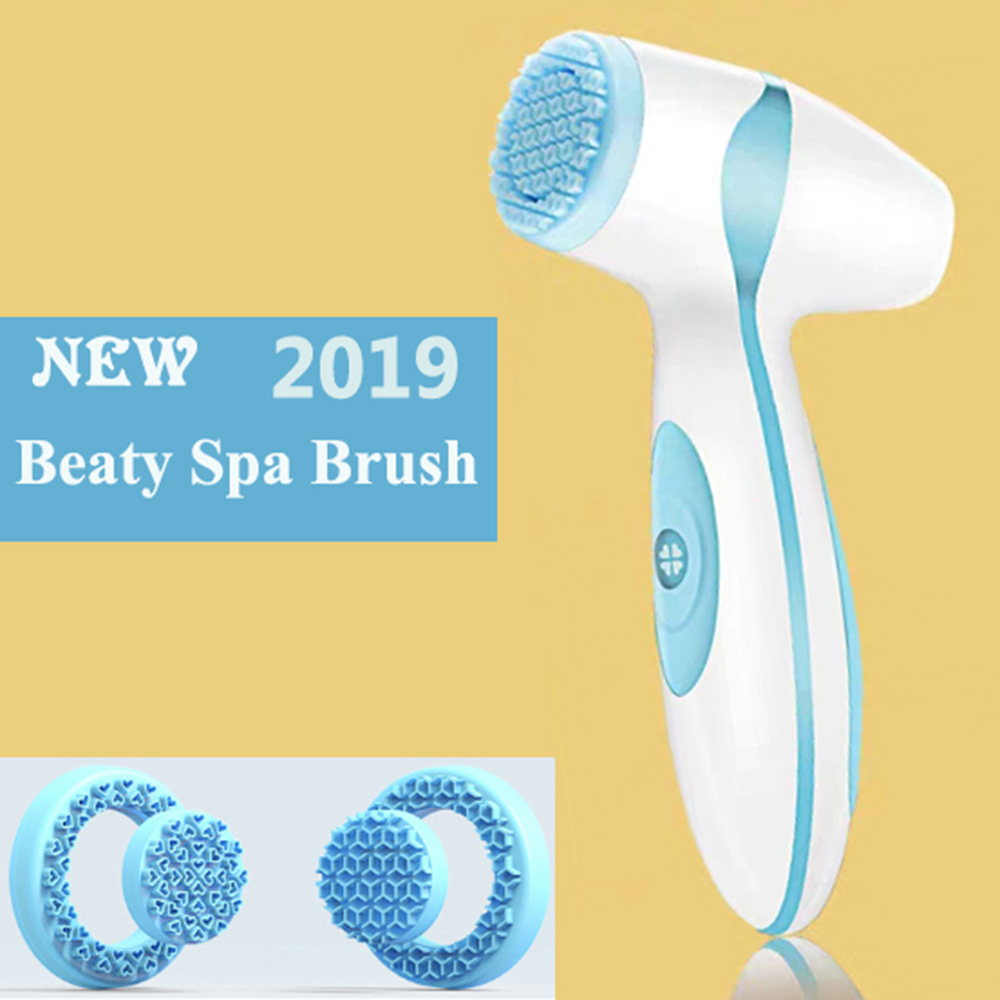 Electric Facial Cleansing Spin Brush Sonic Pore Cleaner Complete Galvanic Spa System Skin Care Massager Machine Nuskin Face lift image
