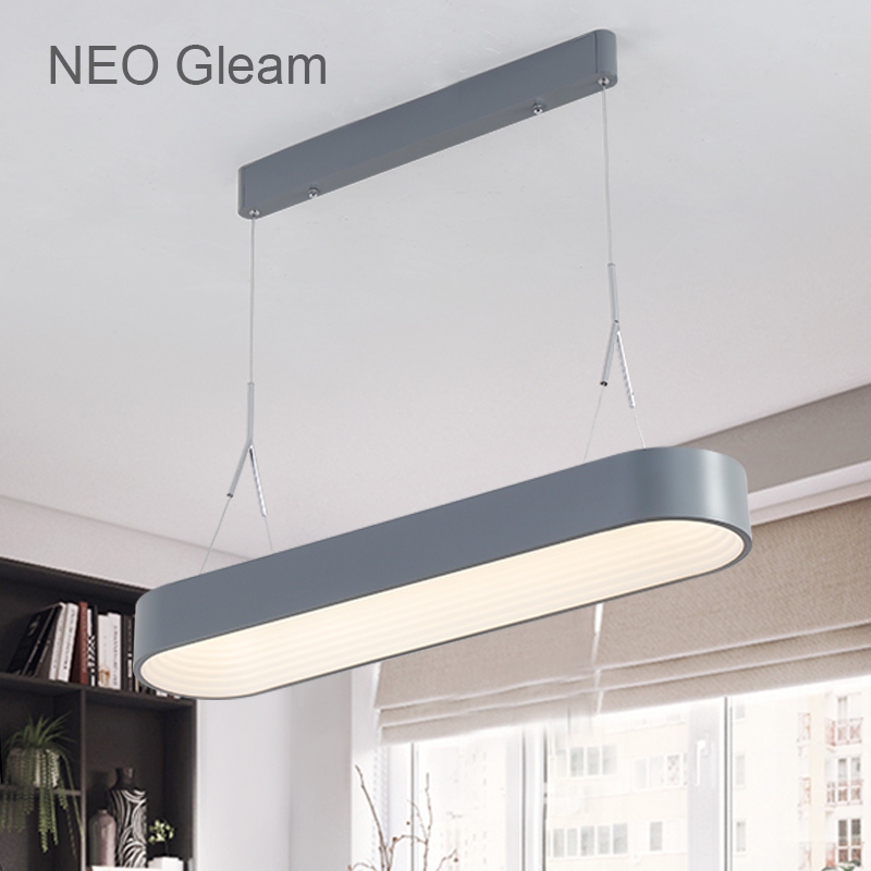 NEO Gleam Minimalism Modern Led Pendant Lights For Dining Living Kitchen Bar Room Grey/White Color 85-265V Hanging Pendant Lamp neo gleam minimalist modern led pendant lights for dining room kitchen room hanging hanglampen suspension pendant lamp fixture