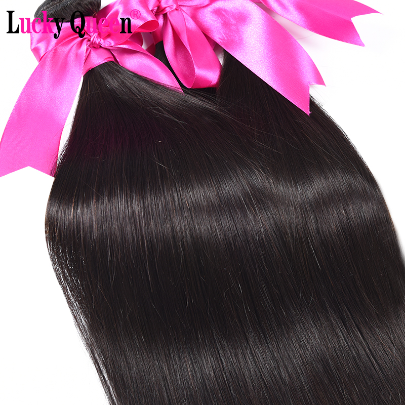Lucky Queen Hair Products Brazilian Straight Hair 4 buntar # 1B / # 2 - Mänskligt hår (svart) - Foto 5