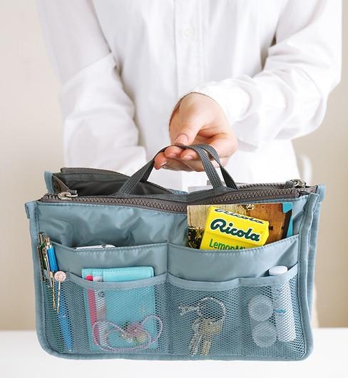 Doreen Box 2018 Hot Sale Popular Double Zipper Bag Multi-function Travel Washing Cosmetic Storage Bag for Women Girls 1PC