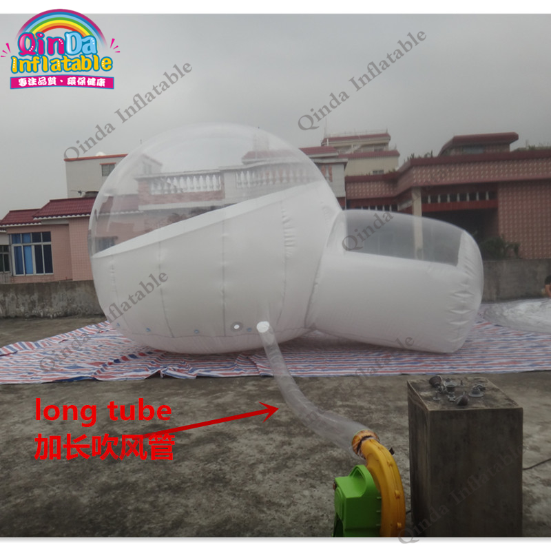 6*2m single tunnel bubble inflatable yurt tent,Inflatable clear bubble tent for party event personal activity inflatable mobile pub tent for family party use