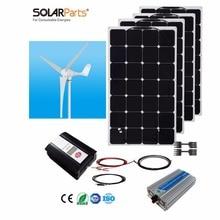 Boguang 1x 600W wind turbine 4x100W Solar Wind Hybrid solar system DIY kit solar panel home