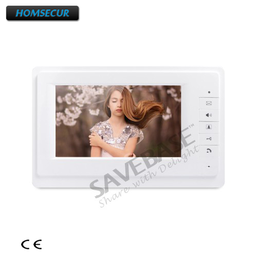 HOMSECUR 7inch XM701 Color Indoor Monitor With Mude Mode For Video Door Phone Intercom System
