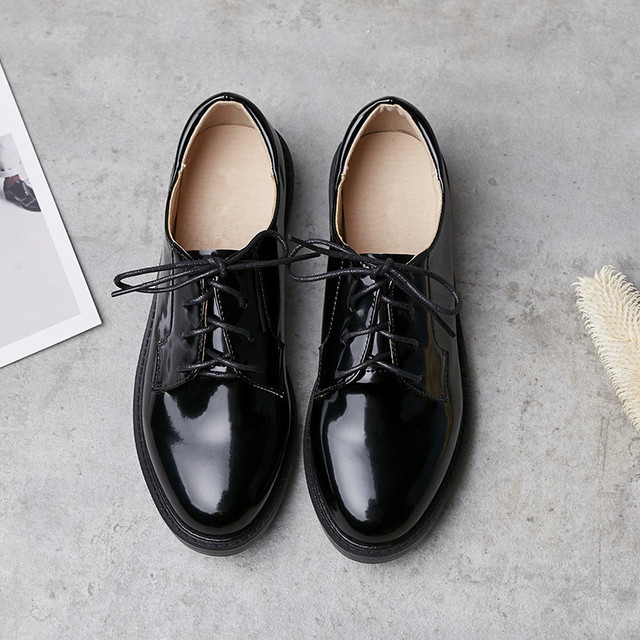 b7d656c1 OULYYYOGO wiosna i lato kobiet buty w stylu Vintage w stylu Preppy okrągły  nosek Derby buty