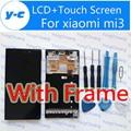 Высокое Качество Жк-Дисплей + Сенсорный Экран С Рамкой Для xiaomi mi3 Дисплей Цифровая Панель Стекло Замена Для Xiaomi m3 WCDMA Телефон