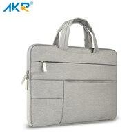 AKR Multiple Pocket Canvas Laptop Bag Case For MacBook Air 13 Inch 11 Pro Retina 12