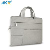 Akr Multiple Pocket Canvas Laptop Bag Case For Macbook Air 13 Inch 11 Pro Retina 12 13 15 Handle Sleeve Waterproof Bag