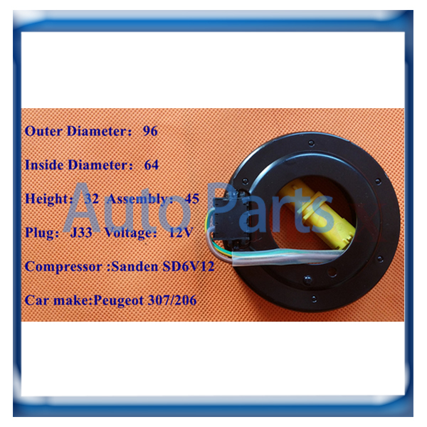 Hot Sale Sd6v12 Compressor Clutch Coil For Peugeot 206/307 Back To Search Resultsautomobiles & Motorcycles