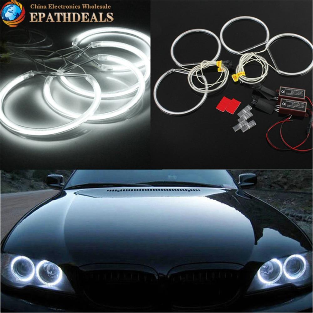 4pcs CCFL White Light Angel Eyes Halo Ring Auto Car Headlight Head Light for BMW E36 E38 E39 E46 M3 цены онлайн
