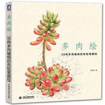 Chinês livro de desenho a lápis pintura desenho a lápis de cor arte de 38 tipos de Plantas Suculentas livro Tutorial livro de arte