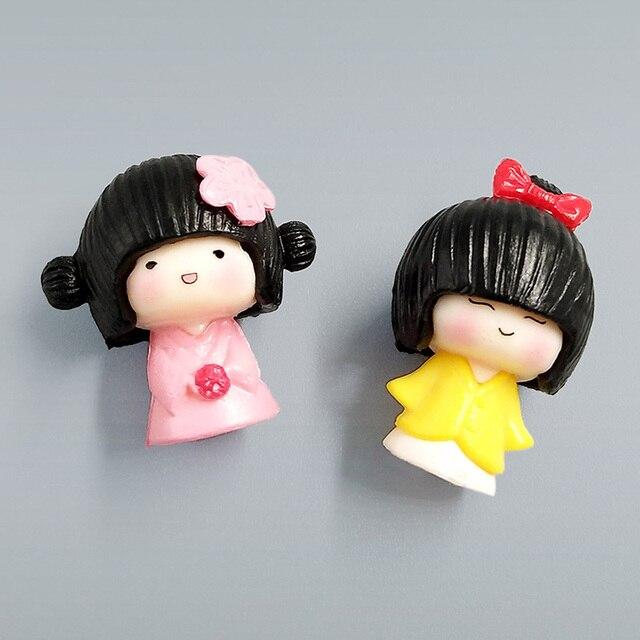 2pc/lot mini Janpanese Girl figurine Bonsai Moss people ornament home decor miniature fairy garden decoration accessories modern 5
