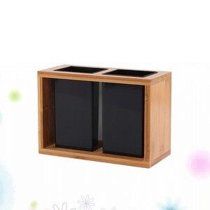 Image 3 - 1 шт., бамбуковый органайзер для сушки столовых приборов