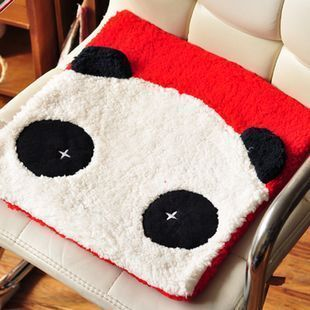 Kawaii Cartoon Lovers Panda Seat Cushion Chair Pad Dining Table Sofa Cushion Home Texile Retail