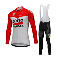 Pro Cycling Jersey Set 2018 Long Sleeves Quick Step Pro Team Racing Ropa Ciclismo