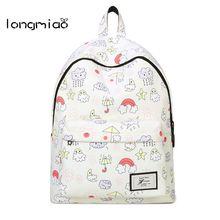 Longmiao 2017 Для женщин Рюкзаки мультфильм погода школьный рюкзак печати Холст ранцы для подростков Обувь для девочек студентов мешок детей