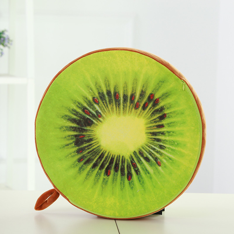 2019 Latest Design Creative Digital Printing 3d Cute Fruit Pillow Simulation Tire Plush Cushion Kiwi Cushion Emovable And Washable Seat Cushion Home Textile Home & Garden