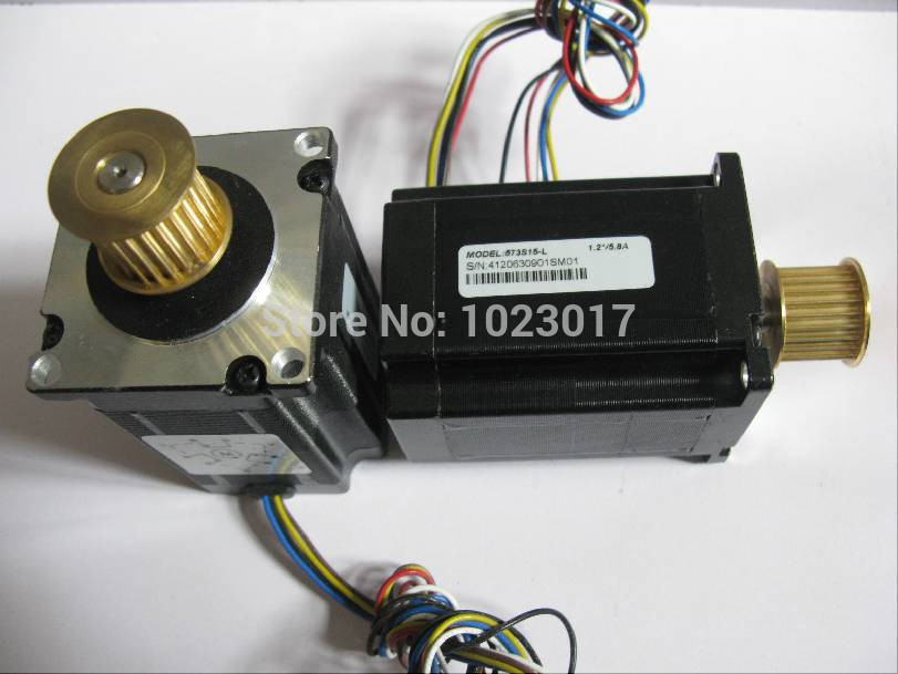 High quality 3 phase laser step motor 573s15-L with 24 teeth for co2 laser cutting and engraving machine 3 phrase leadshine 573s15 step motor