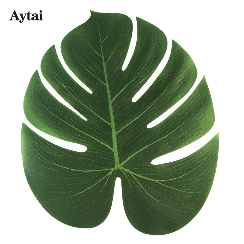 Aytai 12pcs 35X29cm Artificial Tropical Palm Leaves For